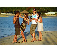 New Years Eve. Plantation Island Resort - Fiji Photographic Print