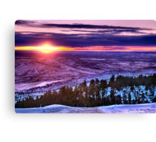 Winter's Rainbow Of Color Canvas Print