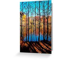 Thru Trees Greeting Card