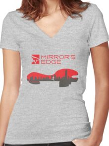 Mirror´s Edge Women's Fitted V-Neck T-Shirt