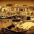 Marsaxloxx Harbour, Malta G.C. by Stan Owen