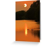 sunset in a cambridgeshire park Greeting Card