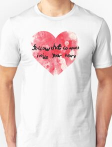 compass of your heart Unisex T-Shirt