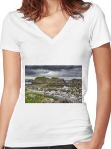 Ballintoy - Games of Thrones - Sea View Print Women's Fitted V-Neck T-Shirt