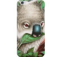 Cute Koala Munching a Leaf iPhone Case/Skin