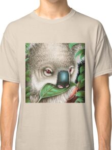 Cute Koala Munching a Leaf Classic T-Shirt