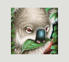 Cute Koala Munching a Leaf Womens Fitted T-Shirt