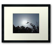 Silhouette of a LifeSaver Framed Print