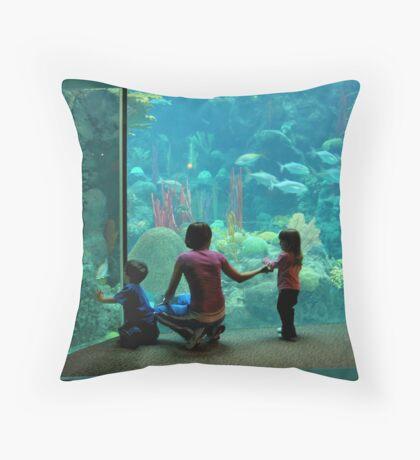 At the Aquarium Throw Pillow
