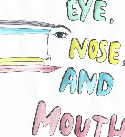 eye, nose and mouth Sticker