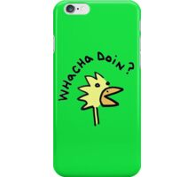 inquisitive chicken iPhone case iPhone Case/Skin