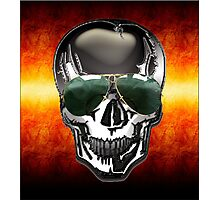 Skull Google Photographic Print