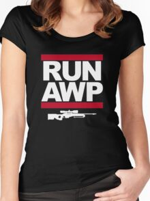 RUN AWP Women's Fitted Scoop T-Shirt