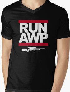 RUN AWP Mens V-Neck T-Shirt