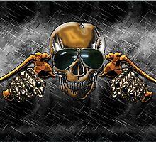 Biker Skull by Bluesax