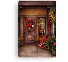 Winter - Store - Metuchen, NJ - Dressed for the holidays Canvas Print