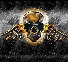 Biker Skull III by Bluesax