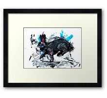 Fozzy the flemish giant Framed Print