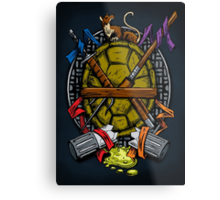 Turtle Family Crest - Full Color Metal Print