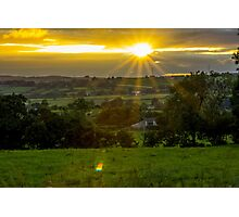 The Setting Sun (2) - Sunset in Ireland Photographic Print