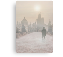 Foggy Prague Canvas Print
