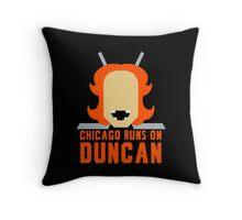 Chicago Runs on Duncan Throw Pillow