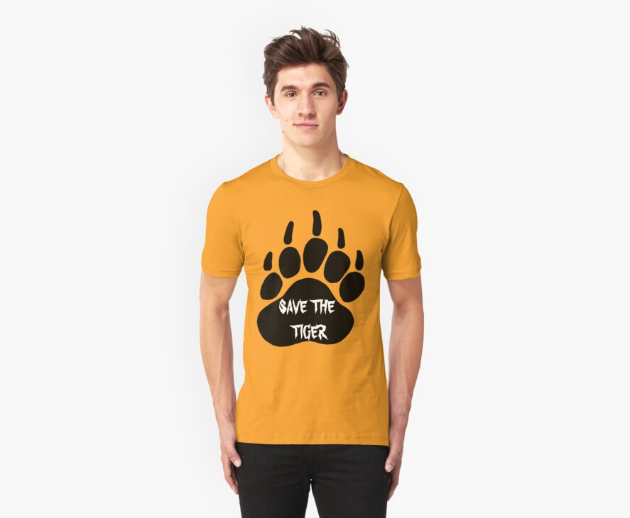 Save the tiger t-shirt by parko