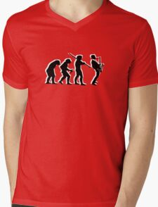 evolution of jazz t-shirt Mens V-Neck T-Shirt
