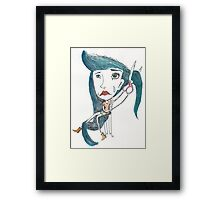 letting go is hard Framed Print