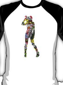 sticker bomb girl 4 T-Shirt