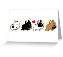 Frenchie Familly Greeting Card