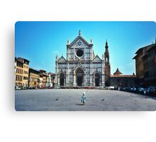 A child in Florence - Basilica of Santa Croce Canvas Print