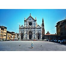 A child in Florence - Basilica of Santa Croce Photographic Print