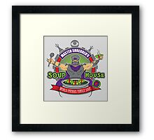 TMNT Master Shredder's Soup House Framed Print