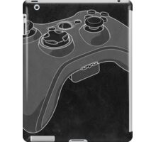 Distressed XBOX 360 Controller in Black and White iPad Case/Skin