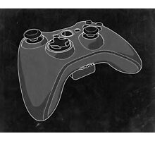 Distressed XBOX 360 Controller in Black and White Photographic Print