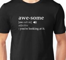 Definition of Awesome You're Looking at it Unisex T-Shirt
