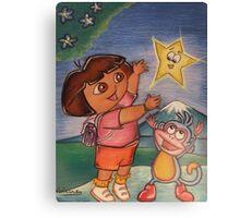 Dora & Boots Canvas Print