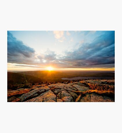 Cadillac Sunset Photographic Print