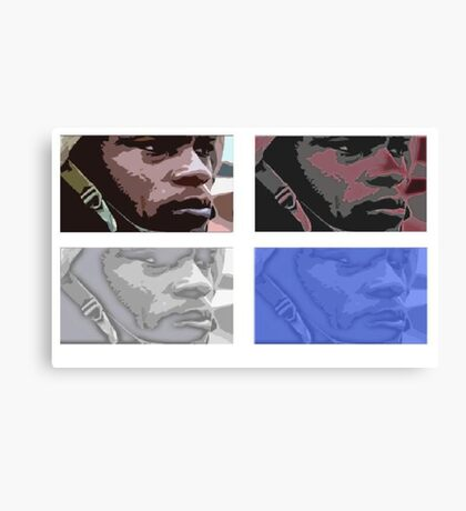 Coloured army man Canvas Print
