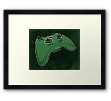 Distressed XBOX 360 Controller in Green Framed Print