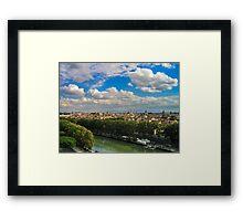 Rome Cityscape Framed Print