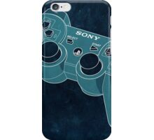 Distressed Playstation Controller in Cyan iPhone Case/Skin