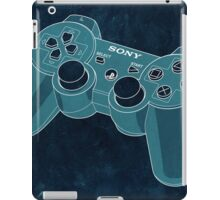Distressed Playstation Controller in Cyan iPad Case/Skin
