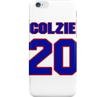 National football player Neal Colzie jersey 20 iPhone Case/Skin