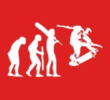 evolution of skateboard on dark t-shirt Kids Clothes