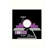The Moonlite All-Nite Diner Art Print
