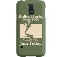 Roller Girl Recruitment Poster (Retro Green) Samsung Galaxy Case/Skin