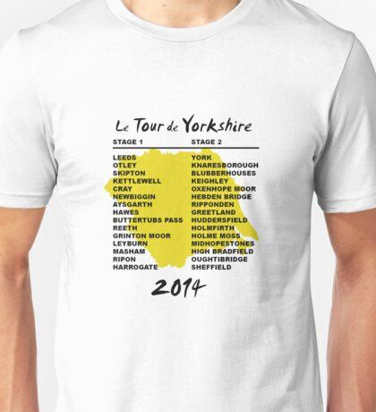 Tour de Yorkshire 2014 Front Unisex T-Shirt