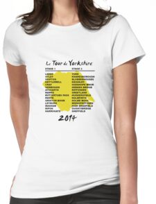 Tour de Yorkshire 2014 Front Womens Fitted T-Shirt